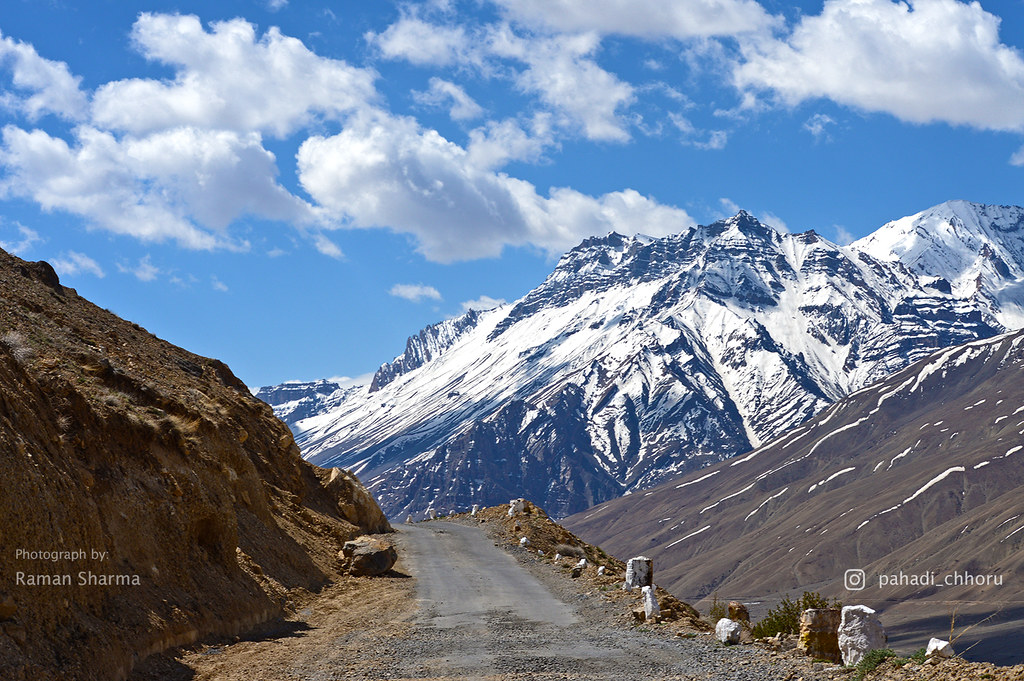 Snow clad mountains in Spiti