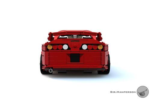 Toyota Supra rear - 16-wide - Lego