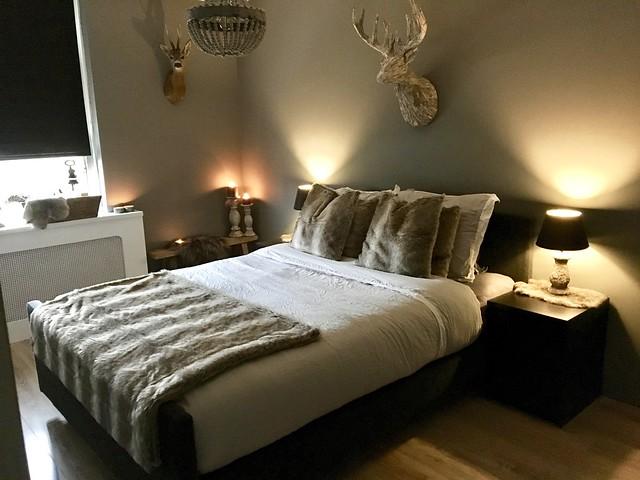 Slaapkamer landelijk ingericht