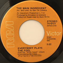 THE MAIN INGREDIENT:EVERYBODY PLAYS THE FOOL(LABEL SIDE-A)
