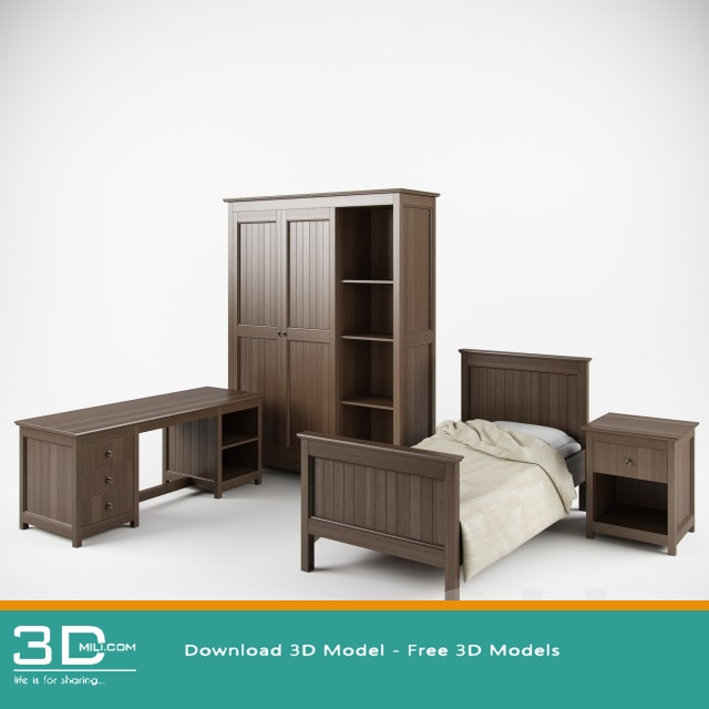 91  Furniture set 3D file free download - 3D Mili - Download 3D