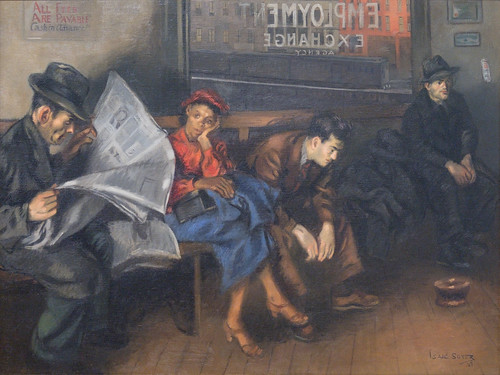 Isaac Soyer, Employment Agency, 1937 1/15/18 #whitneymuseum