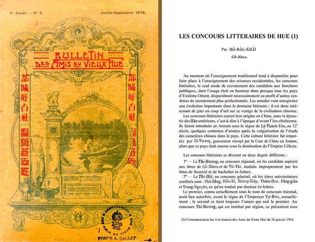 LES CONCOURS LITTERAIRES DE HUE - BAVH 3-1916 (3)
