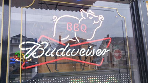 Neon Sign - Budweiser BBQ - Combs BBQ Central - Middletown, Ohio