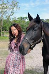 Linda Ann with a Horse