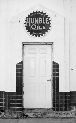 texas jeffersontexas humbleoils door bw blackwhite humbleoilaandrefiningcompany