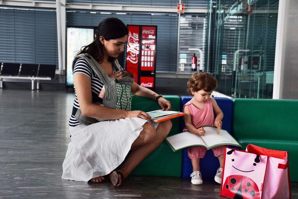En la zona para niños del aeropuerto de Zaragoza