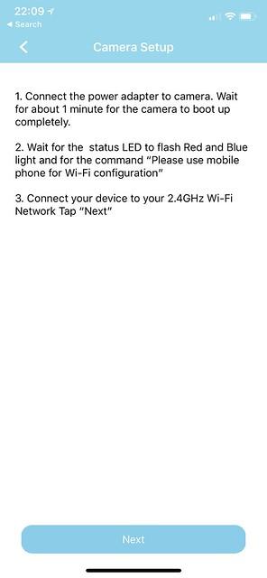 AzCam iOS App - Setup #3