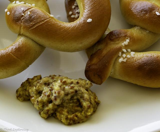Mustard and soft pretzel -- HMM!
