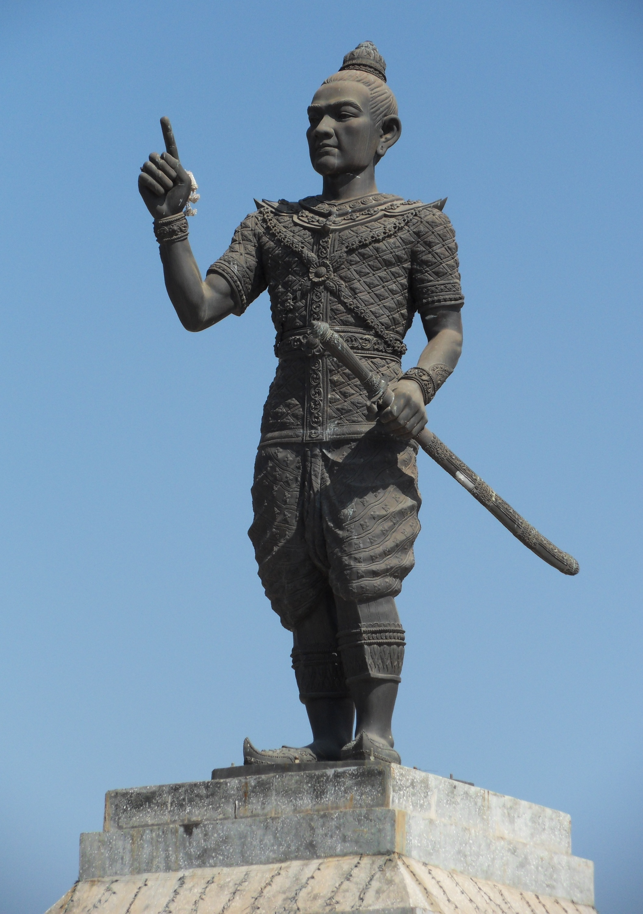 A statue of Fa Ngum, founder of the Lan Xang kingdom. Photo taken in Vientiane on December 2, 2011.