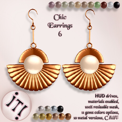 !IT! - Chic Earrings 6 Image - TeleportHub.com Live!