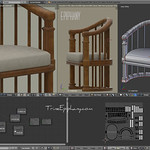 Balinese Chair Blender 3D