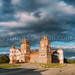 Mir, Belarus. Panorama Of Mir Castle Complex On Blue Sunny Sunset Sky Background. UNESCO Heritage. Famous Landmark, Architectural And Cultural Heritage