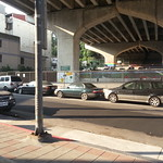 Bike to Pingxi. Breakfast under bridge.