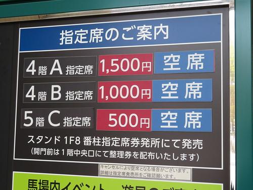 福島競馬場の指定席種類