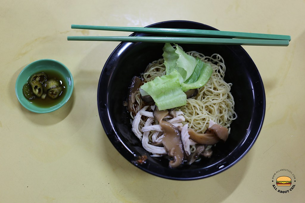all about ceil chye kee cooked food  mushroom shredded