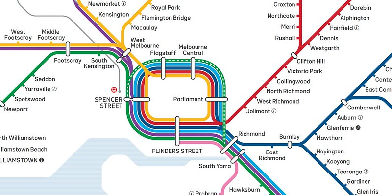 New train map including Spencer Street and West Melbourne