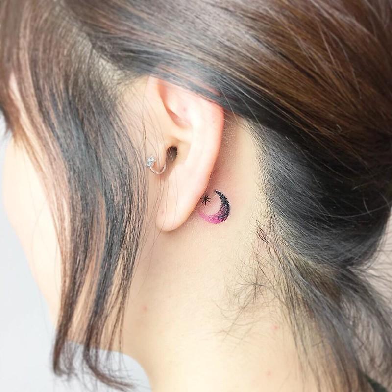Tatuajes Pequeños Y Sencillos En La Oreja Mini Tatuajes