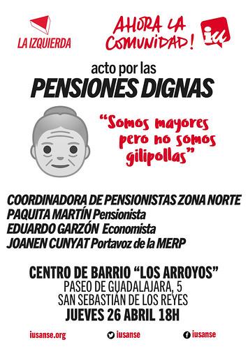 Acto por las pensiones dignas