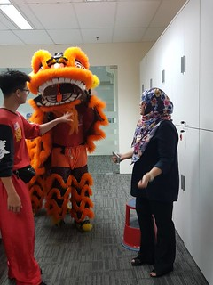 Lion Dance Performance @ Office