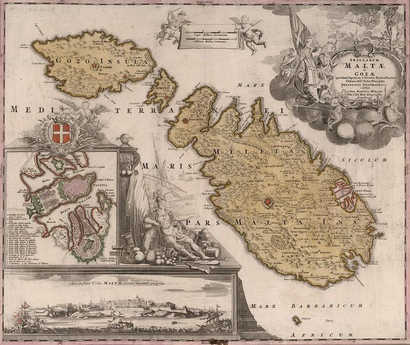 After Johann Baptist Homann - Insularum Maltae et Goza (1788)