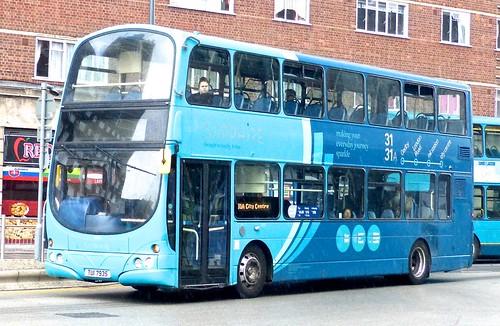 TUI 7935 'Arriva Midlands' No. 4005 'Sapphire. 'Volvo B7TL / Wright Gemini on 'Dennis Basford's railsroadsrunways.blogspot.co.uk'