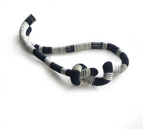 Black and White Statement Necklace by Alfieri Jewel Design