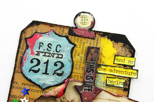 Meihsia Liu Simply Paper Crafts Mixed Media Tag Road Trip Travel Simon Says Stamp Tim Holtz 2