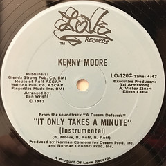 KENNY MOORE:IT ONLY TAKES A MINUTE(LABEL SIDE-B)