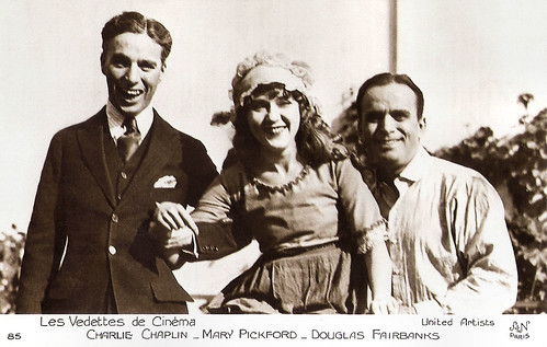 Charlie Chaplin, Mary Pickford and Douglas Fairbanks