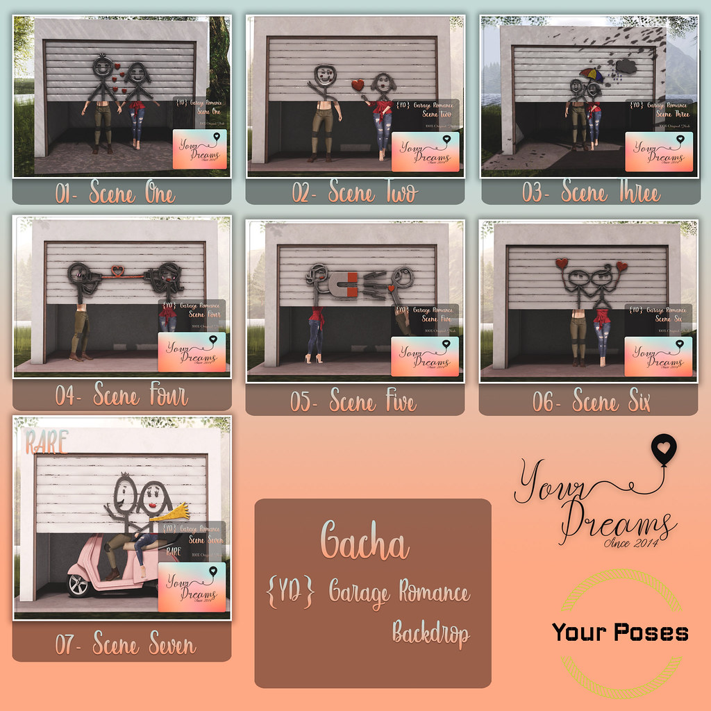 {YD} Garage Romance – Backdrop