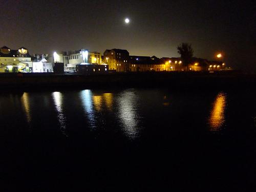 Galway lights at night, Ireland