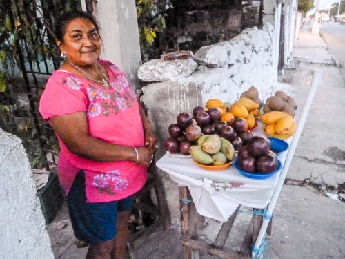 Lady selling fruit