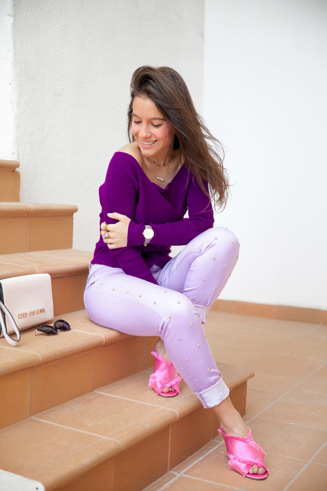 utra violet color del año 2018 Pantone outfit violeta theguestgirl NA-KD Highly Preppy fashion blogger