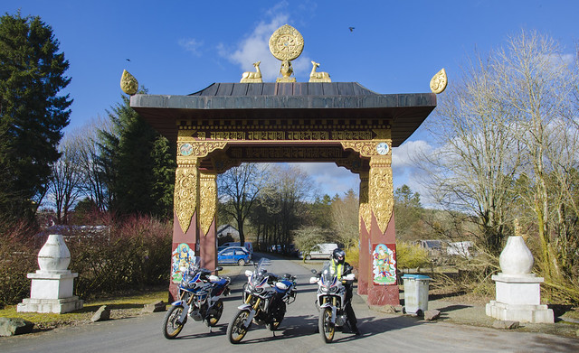 Samye Ling run on the Africa Twin