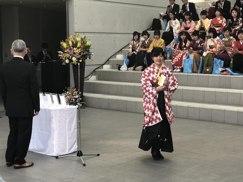 むろたさん、学科賞(研究賞)