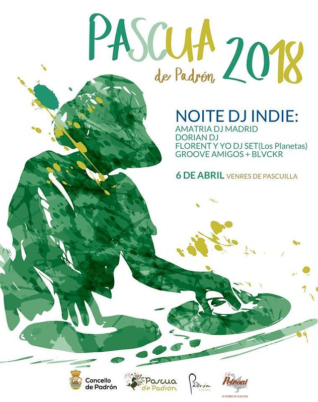Pascua 2018 - Noite DJ Indie - cartel