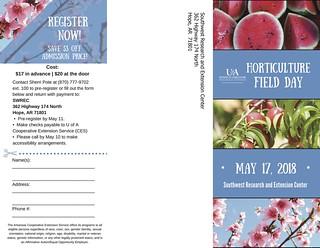 Hort Field Day Brochure 2018