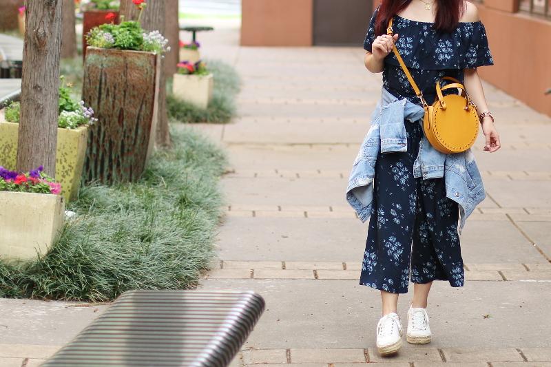 off-shoulder-jumpsuit-circle-bag