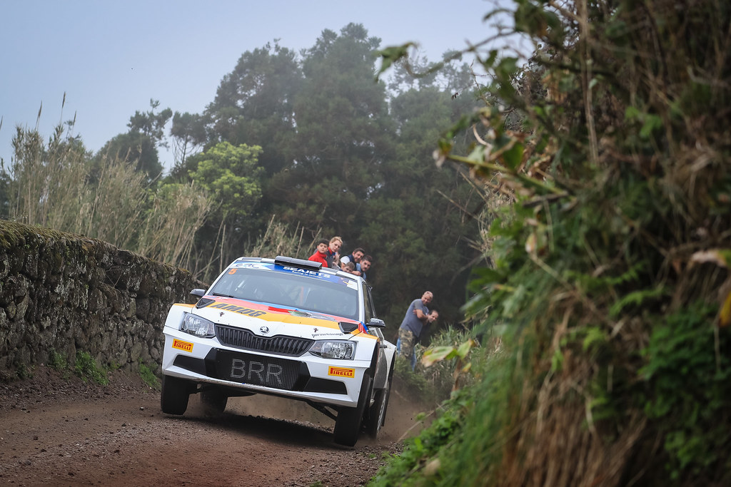 05 VON THUR UND TAXI Albert (deu), DEGANDT Bjorn (bel), SKODA FABIA R5, action during the 2018 European Rally Championship ERC Azores rally,  from March 22 to 24, at Ponta Delgada Portugal - Photo Jorge Cunha / DPPI
