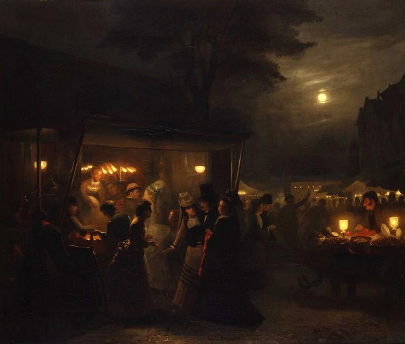 Johannes Rosierse - Markt Scene, Evening