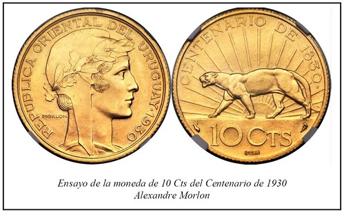 1930 Uruguay centennial 10 cents