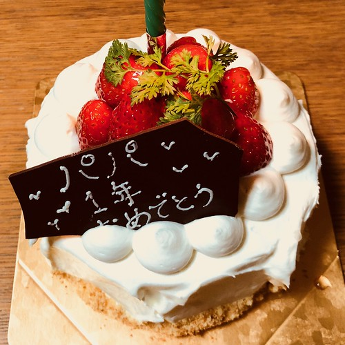 移植一年記念のケーキ