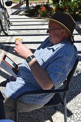 Haydn reading in the sun - Plaza Canterero