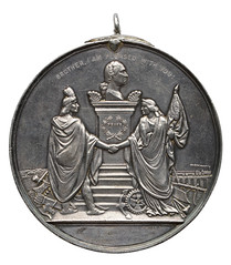 1865 Silver Indian Peace Medal, Andrew Johnson