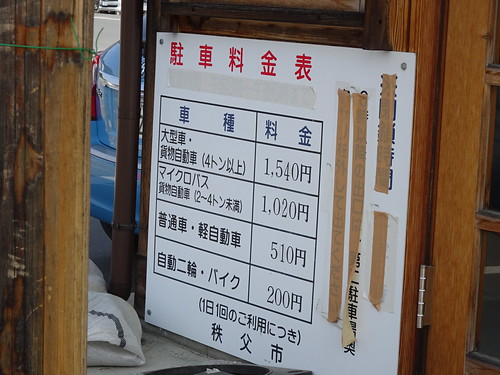 三峯神社の駐車場