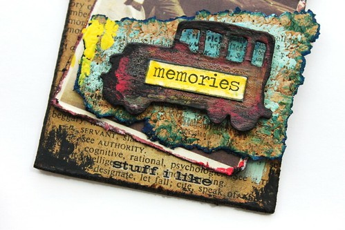 Meihsia Liu Simply Paper Crafts Mixed Media Tag Road Trip Travel Simon Says Stamp Tim Holtz 4