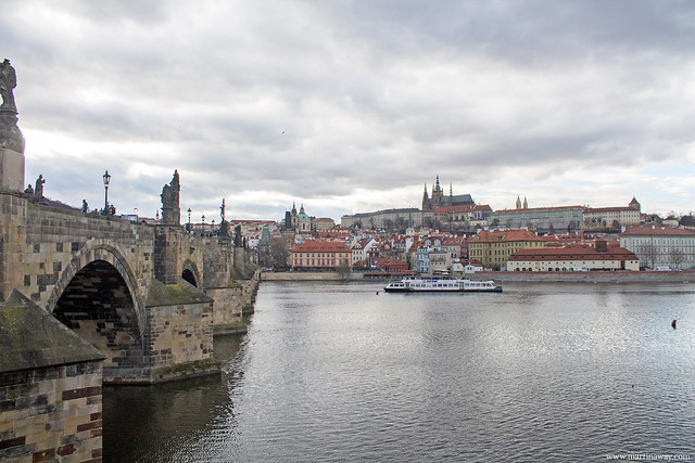 Il Castello di Praga visto da Ponte Carlo