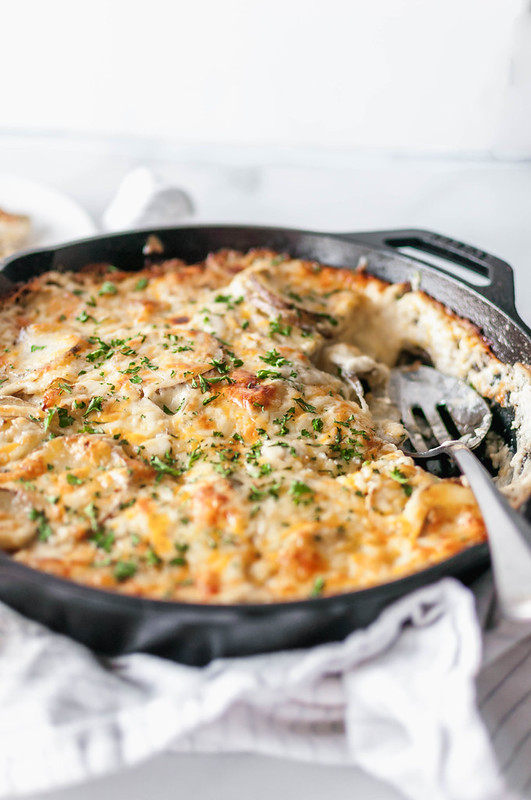 These Outrageous Au Gratin Potatoes are the definition of holiday side dish. Incredibly rich and cheesy, these are just what you need on your Easter table.