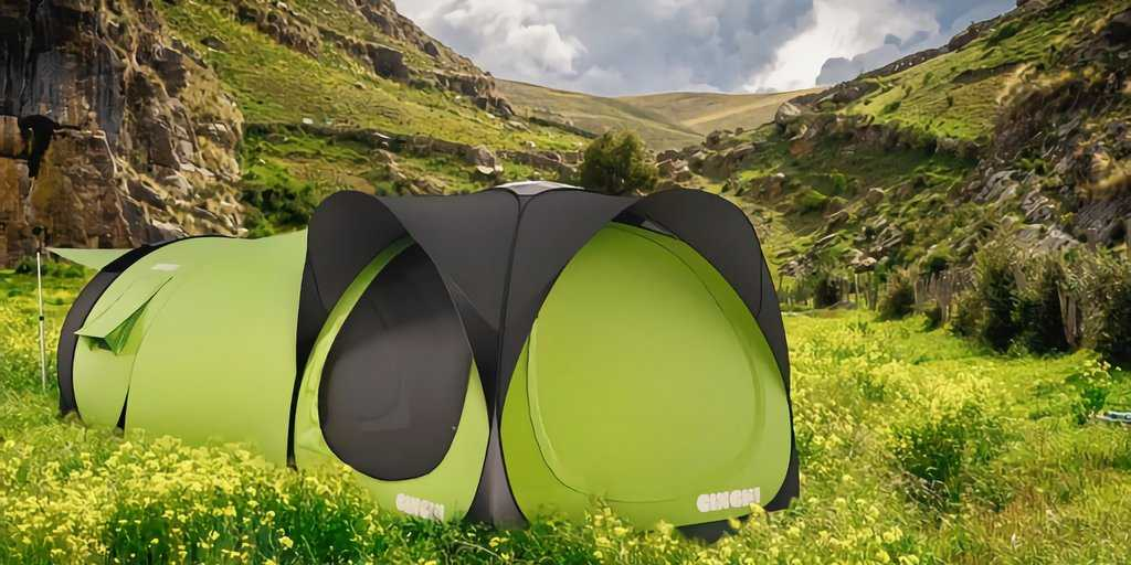 La Cinch : Une tente modulaire intelligente avec un système d'alimentation électrique solaire